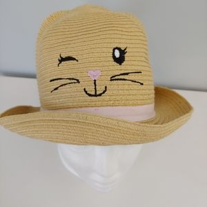 THE CHILDREN'S PLACE Kitty Cat Straw Hat, M/L